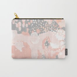 Penelope - abstract millenium pink and grey painting large canvas art decor Carry-All Pouch