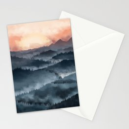 Mountains Sunset Stationery Cards