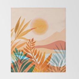 Golden Greek Garden Throw Blanket