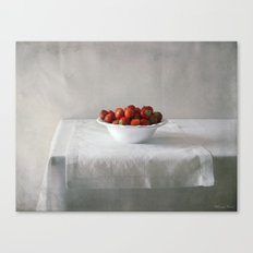 Still life with strawberries. Canvas Print