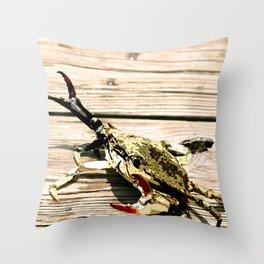 CrabWalk Throw Pillow