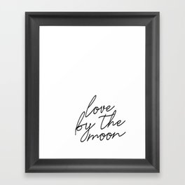 Live by the sun love by the moon (2 of 2) Framed Art Print