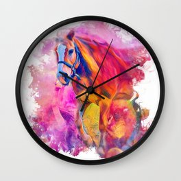 Painterly Animal - Horse 1 Wall Clock