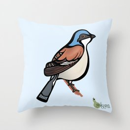 Red Backed Shrike Throw Pillow