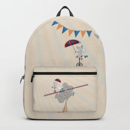 Elephant on tightrope Backpack
