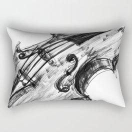 Black Violin Rectangular Pillow
