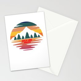 leech lake  for people who like lakes, vacations and national parks  Stationery Cards