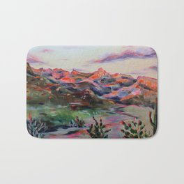 Tucson Sunset by the Catalina foot hills - Thimble peak Bath Mat
