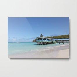 Tropical Paradise Pier on Antigua Metal Print