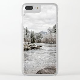 Wintry River Clear iPhone Case