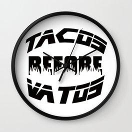 tacos & vatos Wall Clock