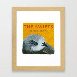 The Swifts - Alpine, Texas Swift Head Framed Art Print