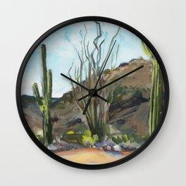 Desert Saguaros Wall Clock