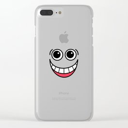 Laughing Face Clear iPhone Case