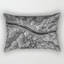 Snow pine forest Rectangular Pillow