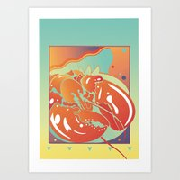 lobster Art Prints featuring Lobster by David Chestnutt