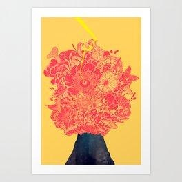 black volcano: the great eruption Art Print
