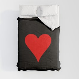 big heart red and black Comforters