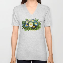 Morning Glories Unisex V-Neck
