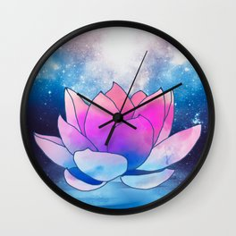 magic lotus flower Wall Clock