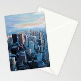New York City - Manhattan Skyline in Warm Sunlight Stationery Cards