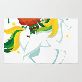 Lepricorn Funny Unicorn St Patricks Day Kids or Girl Rug