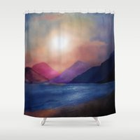 calm Shower Curtains featuring Calm by Viviana Gonzalez