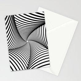 Geometric star illusion Stationery Cards