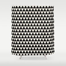 BLACK AND CREAM TRIANGLES Shower CurtainShower Curtains by Allyson Johnson   Society6. Black And Cream Shower Curtain. Home Design Ideas