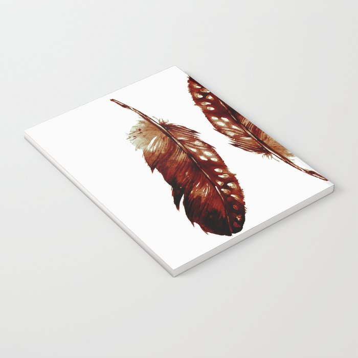 Three Feathers Brown Notebook
