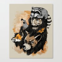 best friends Canvas Prints featuring Best Friends by Nikoby