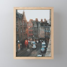 Golden Hour in Edinburgh Framed Mini Art Print