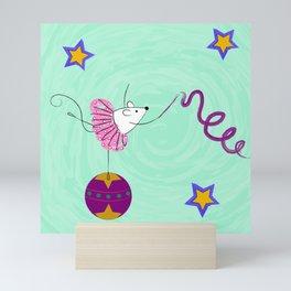 Circus Mouse - Ribbon Dancer Mini Art Print