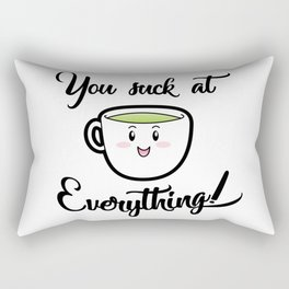 A little tea time wisdom Rectangular Pillow