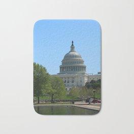 Capitol View With Reflection Pool Washington DC Bath Mat