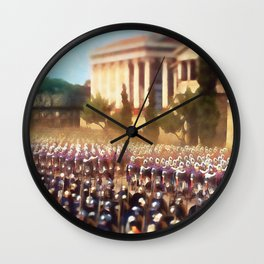 Roman Legion in Battle Wall Clock