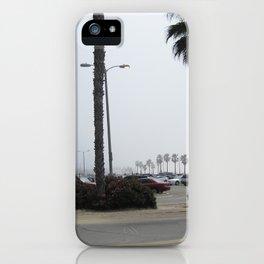 Foggy Californian beach iPhone Case