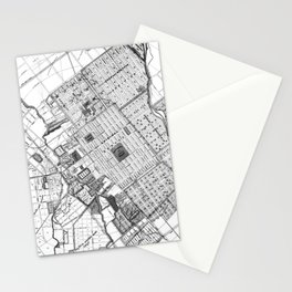 Vintage Map of San Jose California (1886) BW Stationery Cards