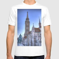 Mathias Church Budapest White Mens Fitted Tee MEDIUM