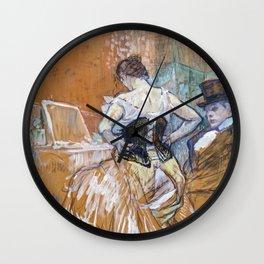 Henri Toulouse Lautrec / Augustins - Conquête de passage 1896 Wall Clock
