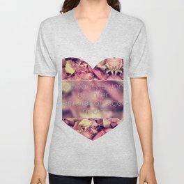 Pastel petals Unisex V-Neck