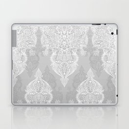 Lace & Shadows 2 - Monochrome Moroccan doodle Laptop & iPad Skin
