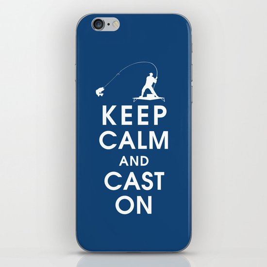 Keep Calm and Cast On iPhone & iPod Skin