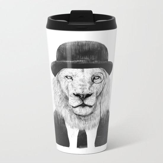 Sir lion Metal Travel Mug
