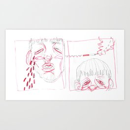 in! out! in! Art Print