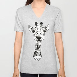 Giraffe Tattooed Unisex V-Neck
