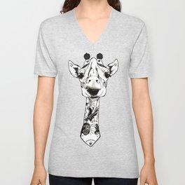 Giraffe Tattooed Unisex V-Neck