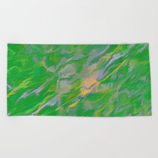 Pearl Green Water Beach Towel