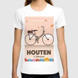 Houten Netherlands Cycling poster print. T-shirt