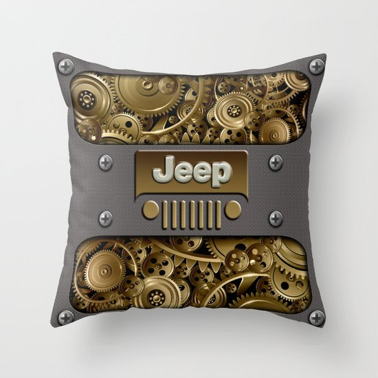 Throw Pillows Kmart : Steampunk Jeep with Gear machines iPhone 4 4s 5 5c 6, pillow case, mugs and tshirt Throw Pillow ...